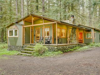 Cozy dog-friendly riverfront cottage w/ charming interior & hot tub!