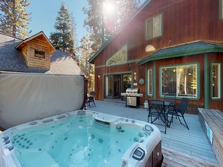 Spacious home w/ private hot tub & a game room with foosball and a pool table!