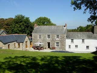 View of the Dairy, Farmhouse and Cottage from the Garden