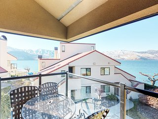 Spacious, lakefront condo w/ lake views, shared pool, hot tub, & more!