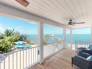 Gorgeous, recently updated, waterfront home with beach, pool, dock, & kayaks