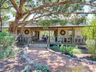 Two dog-friendly, deluxe, & secluded cabins w/jetted tubs & country porch!