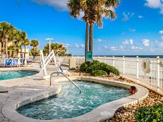 Ocean front condo with 4 shared pools, lazy river, fitness room & more!
