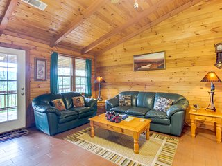 Charming, dog-friendly cabin with private hot tub & lovely mountain views!
