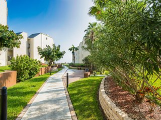 Dog-friendly, beachside condo with shared pools, hot tubs, and more!