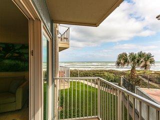 Shared pool, hot tub, & partial ocean views at this waterfront condo!
