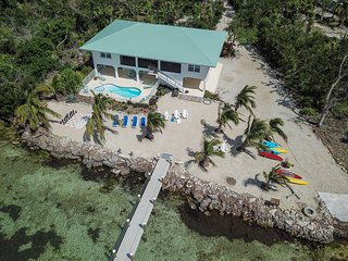 Gulf-front retreat w/ private heated pool, hot tub, boat ramp & new dock!