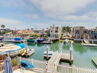 Second-story, waterfront rental w/ deck and Balboa Grand Canal access