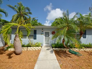 Cozy, dog-friendly home w/ patio & private pool - walk to dining & shopping!