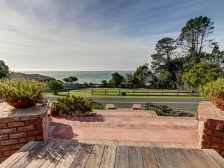 Spacious, dog-friendly, oceanfront home w/ private hot tub - walk to town!