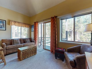 Ski-in/ski-out condo w/ a deck & a shared hot tub - 2 dogs welcome!