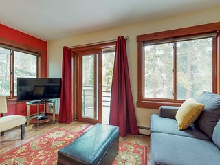 Dog-friendly, ski-in/ski-out condo with shared hot tub & sauna, great location