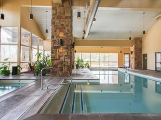 Luxurious ski condo w/ shared hot tub, pool & sauna + great views & location!