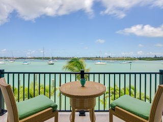 NEW LISTING! Relaxing studio with dock, rooftop patio, and stunning water views!