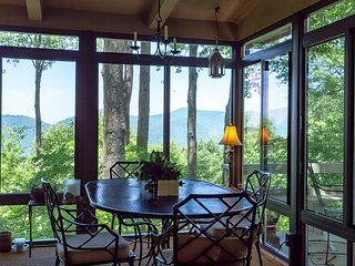 Mountain cottage w/ furnished decks offering amazing views plus a shared pool!