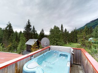NEW LISTING! Glacier view cabin with private hot tub & room for everyone