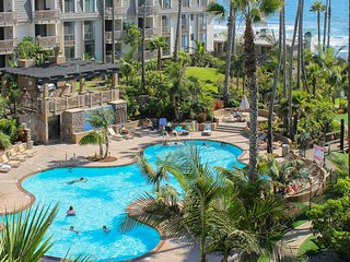 Practice putts at beach view condo w/ shared pool, sauna & hot tub!