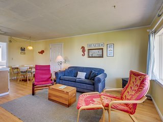 NEW LISTING! Dog-friendly cottage w/ beach access & ocean view from living room