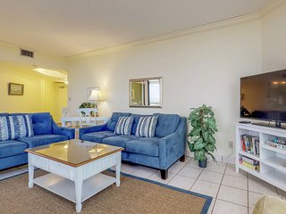 NEW LISTING! Spacious condo in resort setting with shared pool and beach access