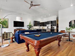 Loft condos w/ a private pool table & shared rooftop patio - steps from downtown