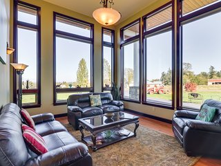 NEW LISTING! Stunning modern home w/mountain views & entertainment - near lake