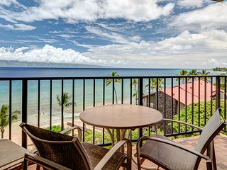 Waterfront condo just steps from the beach plus resort pools, hot tubs & more!
