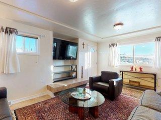 Classic hillside home in perfect location w/private deck & views