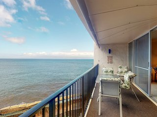Oceanfront condo w/ private lanai, shared pool & great views - in walkable area!