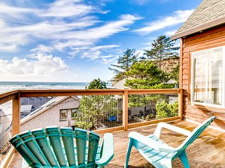 Relaxing, dog-friendly, bayfront home w/ ocean views & easy beach access!