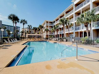 Coastal condo w/balcony & shared pool - steps to beach!