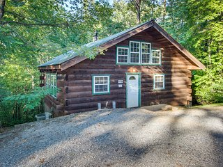 Secluded, dog-friendly cabin - screened-in deck w/ hot tub plus in-room Jacuzzi