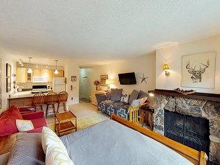 Condo near hiking, town, shared sauna, private deck with amazing views