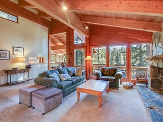 Dog-friendly alpine home w/ private hot tub, shared pool & tennis!