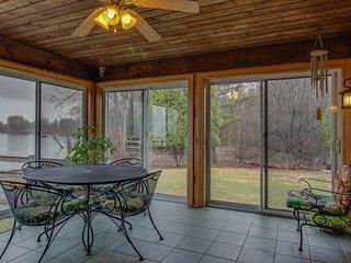 Gorgeous lakefront home with unbeatable lake views, sauna, huge yard!