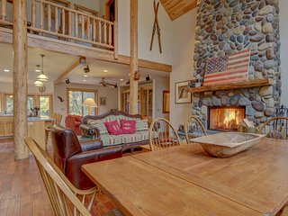 Restored riverfront home w/ cook's kitchen & private hot tub on two acres!