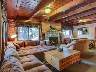 Two-story Tahoe cabin with room for 8 and private hot tub