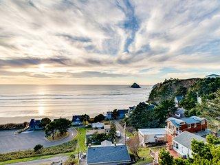 NEW LISTING! Remodeled home w/multiple decks & ocean views -short walk to beach