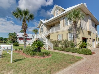 Waterfront and dog-friendly home in gated community w/ lagoon view