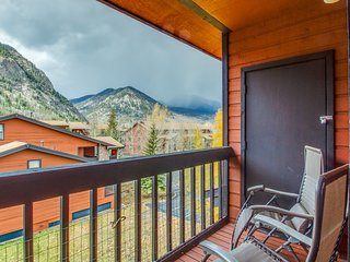 Inviting creekfront condo w/shared pool, hot tub & fitness center - near skiing