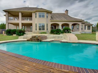 Lakefront home w/ private pool and hot tub, patio, fireplace, and more!