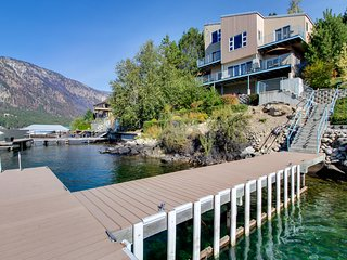 Modern, dog-friendly lakefront chalet w/ private hot tub & shared dock!