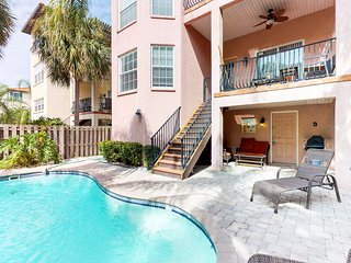 Dog-friendly home w/  private pool a short distance from beach, trolley stops!