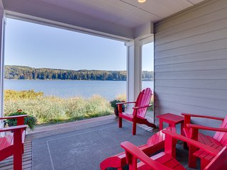 NEW LISTING! Stylish townhome right in Port Ludlow with incredible bay views!