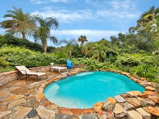 Dog-friendly, oceanview home w/private pool & decks - walk to beach