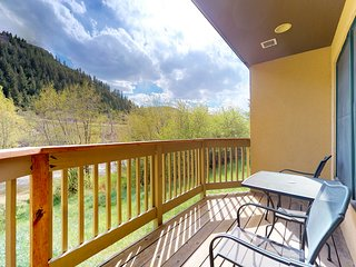 NEW LISTING! Ski-in/ski-out waterfront townhome w/ shared hot tub & balcony
