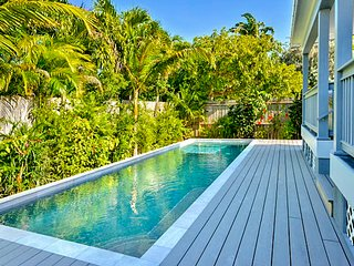 Cozy, chic home w/ private pool & covered back porch - close to the beach