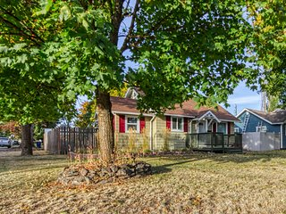 NEW LISTING! Cottage with two-car garage, WiFi, and large fenced backyard!