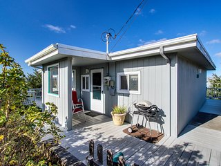 Dog-friendly cottage w/ wraparound deck & ocean views! Close to beach and town!