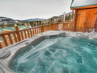 Rustic ski-in/ski-out lodge w/ private hot tub, gourmet kitchen & mountain views