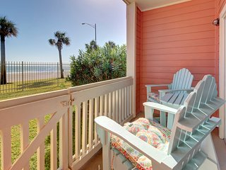 Welcoming condo w/ shared pool, private patio, & oceanfront views